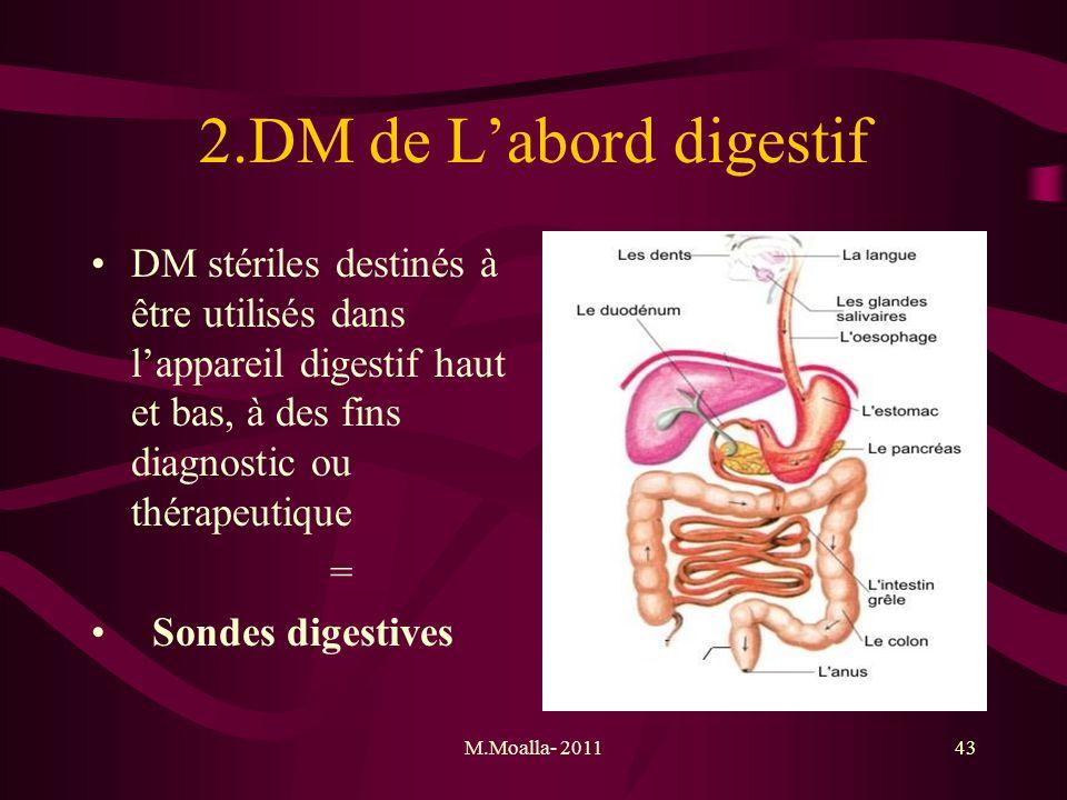 M.Moalla- 201143 2.DM de Labord digestif DM stériles destinés à être utilisés dans lappareil digestif haut et bas, à des fins diagnostic ou thérapeuti