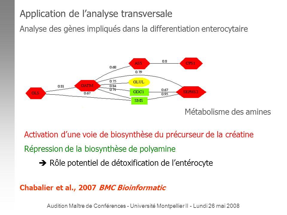 Audition Maître de Conférences - Université Montpellier II - Lundi 26 mai 2008 Activation dune voie de biosynthèse du précurseur de la créatine Répres