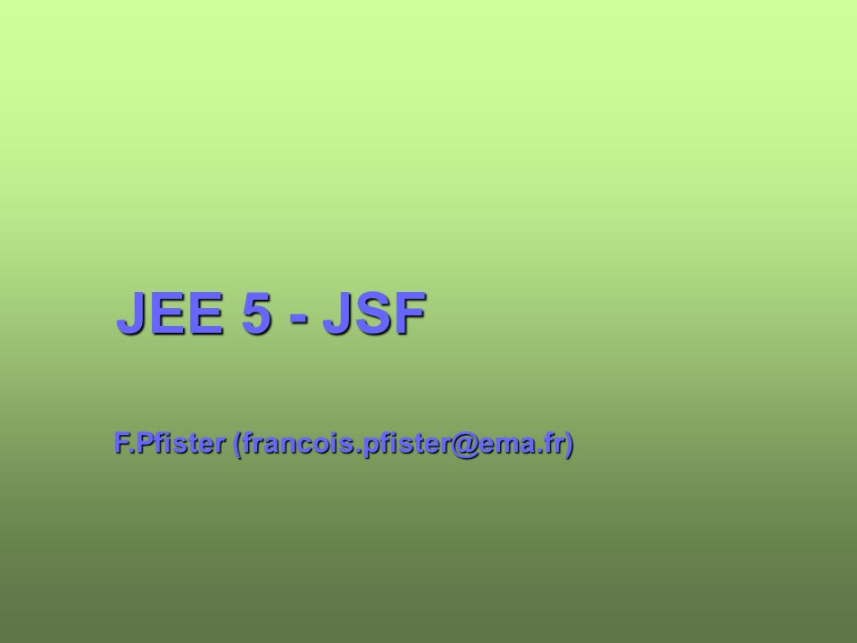 12 institut eerie 2007-2008 Configuration d une application Le tag est obligatoire dans toutes pages utilisant JSF Le tag génère un tag HTML form qui définit un formulaire Les pages doivent référencer les taglibs JSF