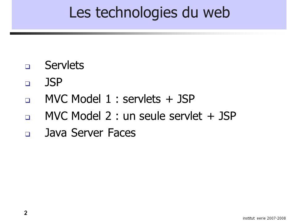 13 institut eerie 2007-2008 Configuration d une application Exemple