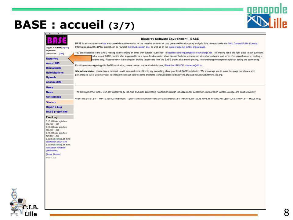 C.I.B. Lille 9 BASE : reporters (4/7)