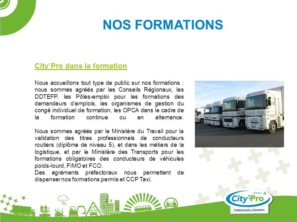 CityPro dans la formation Nous accueillons tout type de public sur nos formations : nous sommes agréés par les Conseils Régionaux, les DDTEFP, les Pôl