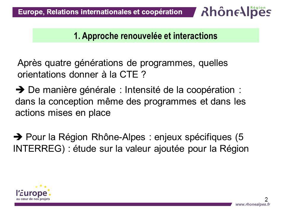 Europe, Relations internationales et coopération www.rhonealpes.fr 3 Pourquoi cette étude .