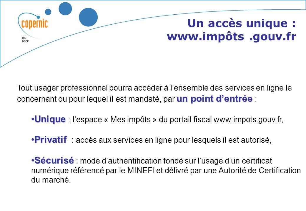 Un abonnement aux services en ligne Un service présentant le compte fiscal des professionnels Un service permettant le paiement en ligne Sommaire De n