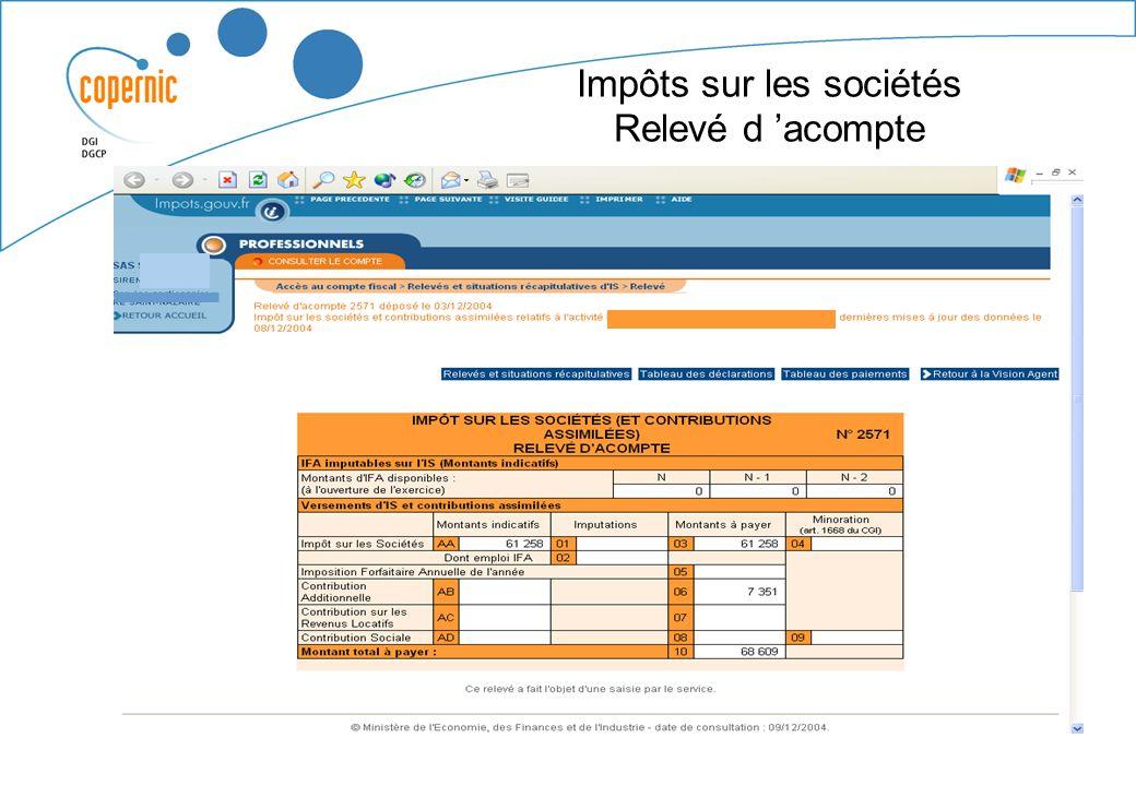 Tableau du suivi des demandes de remboursement de crédit de TVA