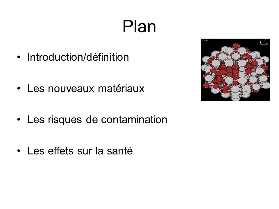 Plan Introduction/définition Les nouveaux matériaux Les risques de contamination Les effets sur la santé