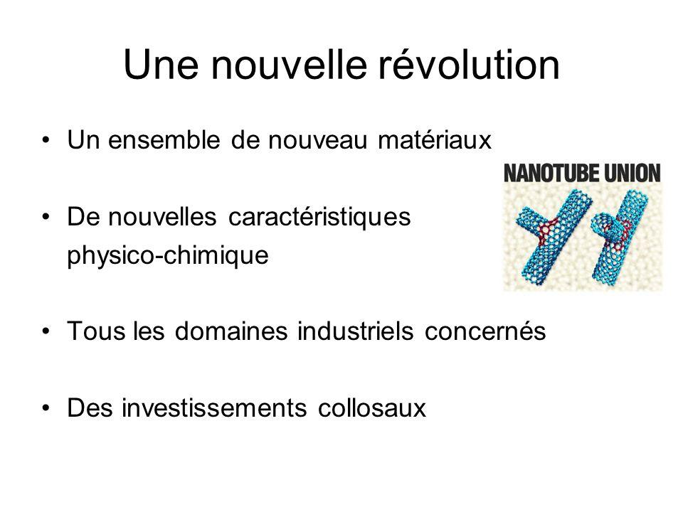 Une nouvelle révolution Un ensemble de nouveau matériaux De nouvelles caractéristiques physico-chimique Tous les domaines industriels concernés Des in