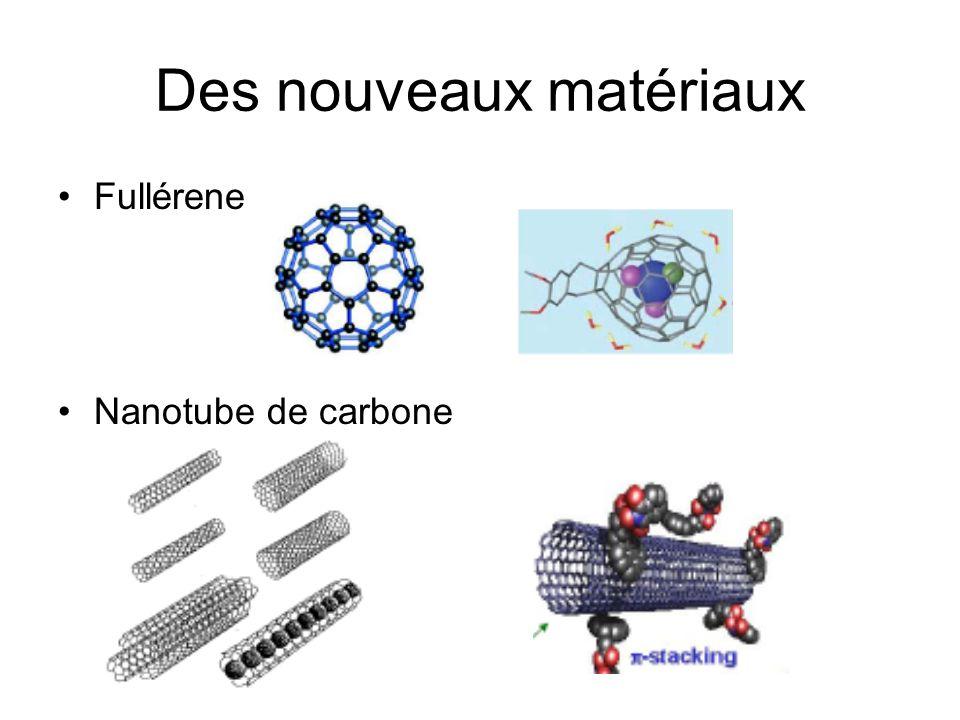 De nouvelles caractéristiques Nanotube de carbone –10x plus rigide que lacier et 6 fois plus leger