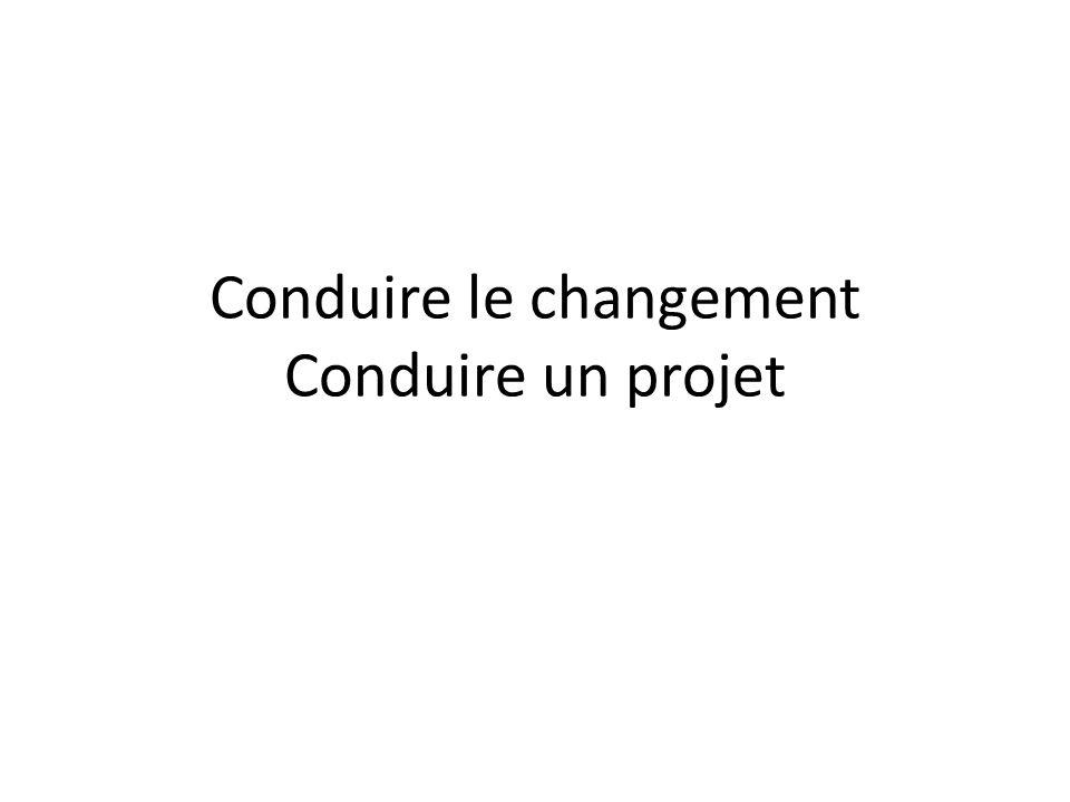 Conduire le changement Conduire un projet