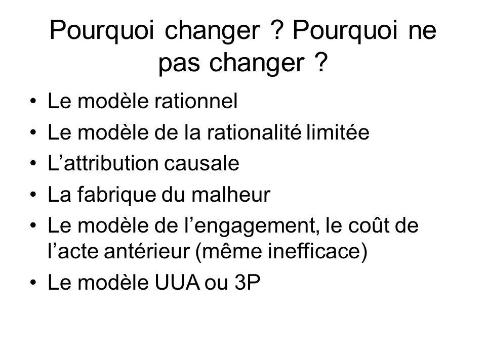 Pourquoi changer .Pourquoi ne pas changer .