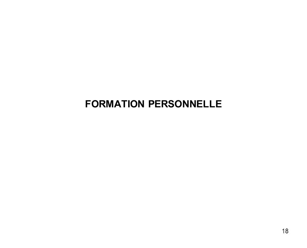 18 FORMATION PERSONNELLE