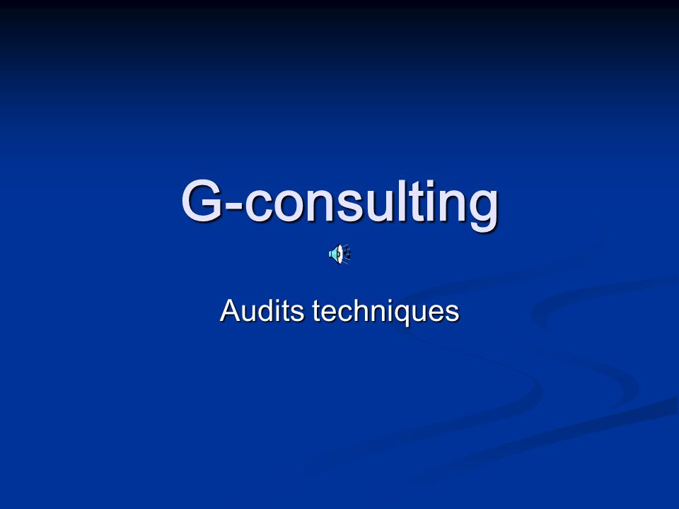G-consulting Audits techniques