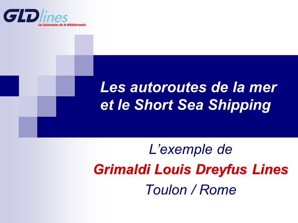 Les autoroutes de la mer et le Short Sea Shipping Lexemple de Grimaldi Louis Dreyfus Lines Toulon / Rome