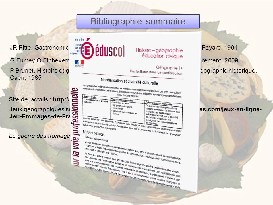 La guerre des fromages qui puent, film de Gilles Capelle, 2011 JR Pitte, Gastronomie française, Histoire et Géographie dune passion, Fayard, 1991 Bibl