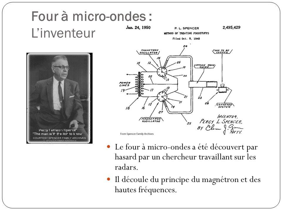 Four à micro-ondes : Le fonctionnement Dans le four, les micro-ondes sont générées par un dispositif appelé « Magnétron ».