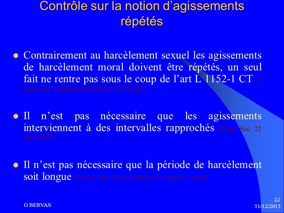 Qualification du harcèlement moral : Les arrêts du 10 novembre 2009 Les arrêts de la Cour de cassation du 10 novembre 2009 Arrêt N° 07-42.849 : La Cou