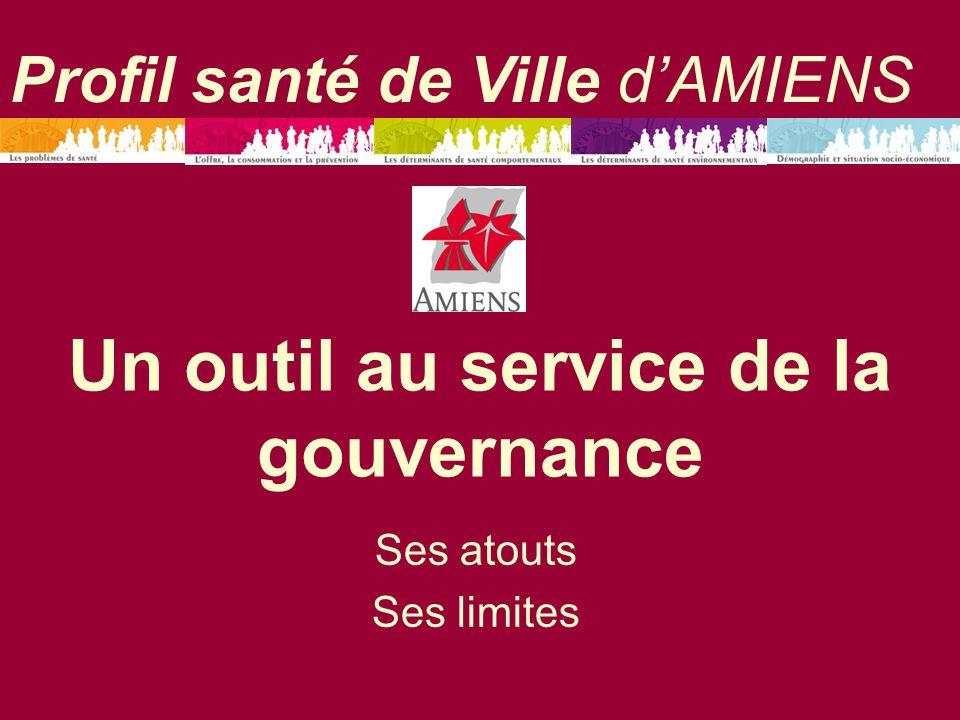 Un outil au service de la gouvernance Ses atouts Ses limites Profil santé de Ville dAMIENS