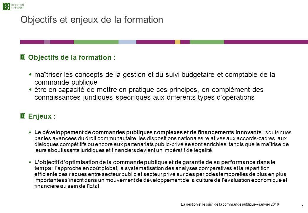 Campus de la gestion publique La gestion et le suivi de la commande publique – janvier 2010 Module de sensibilisation « La gestion et le suivi de la c