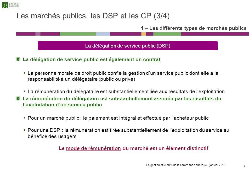 La gestion et le suivi de la commande publique – janvier 2010 4 Les marchés publics de travaux sont des marchés conclus avec des entrepreneurs réponda