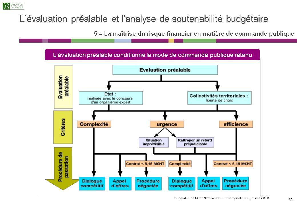 La gestion et le suivi de la commande publique – janvier 2010 64 Définition : document destiné à faire apparaître les motifs à caractères économique,