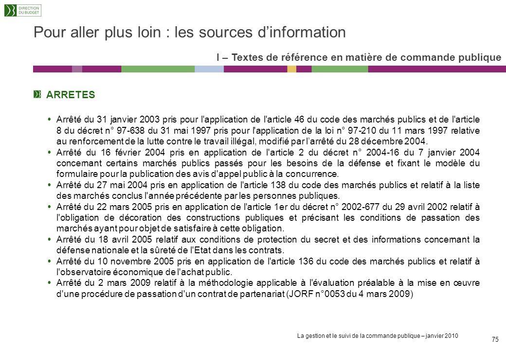 La gestion et le suivi de la commande publique – janvier 2010 74 DECRETS Décret n° 2001-797 du 3 septembre 2001 relatif aux comités consultatifs de rè