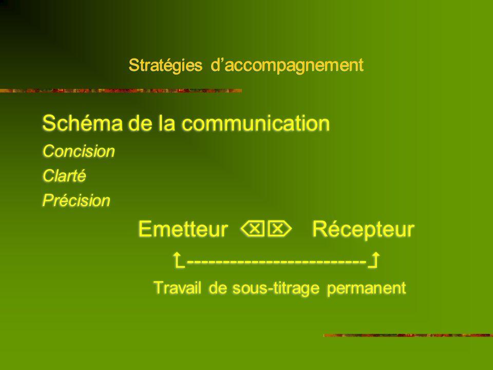 Stratégies daccompagnement 1. La communication / aspect social
