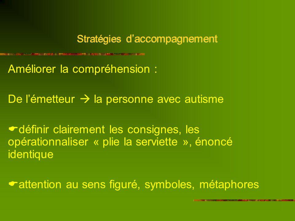 Stratégies daccompagnement Le verbal Le visuel