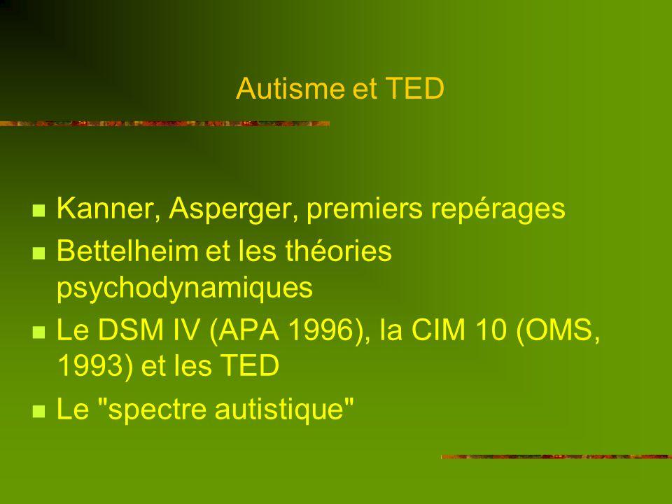 Autisme et TED Hier….. et aujourdhui
