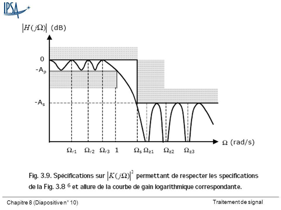 Traitement de signal Chapitre 8 (Diapositive n° 10)
