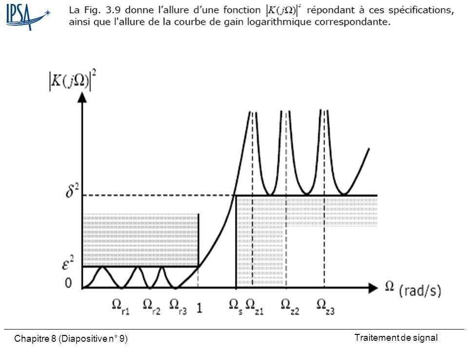 Traitement de signal Chapitre 8 (Diapositive n° 9)