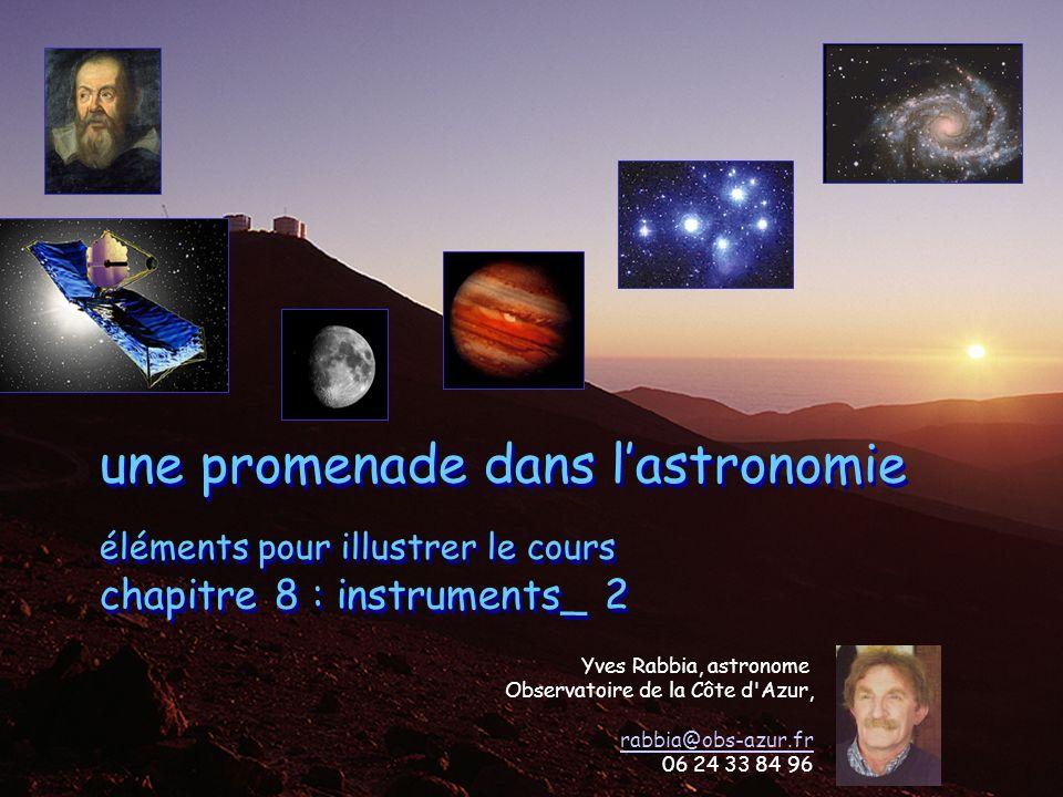 1 UNSA_2012-2013 master CST IUFM Yves Rabbia, OCA Lagrange chap 8 instruments une promenade dans lastronomie éléments pour illustrer le cours chapitre