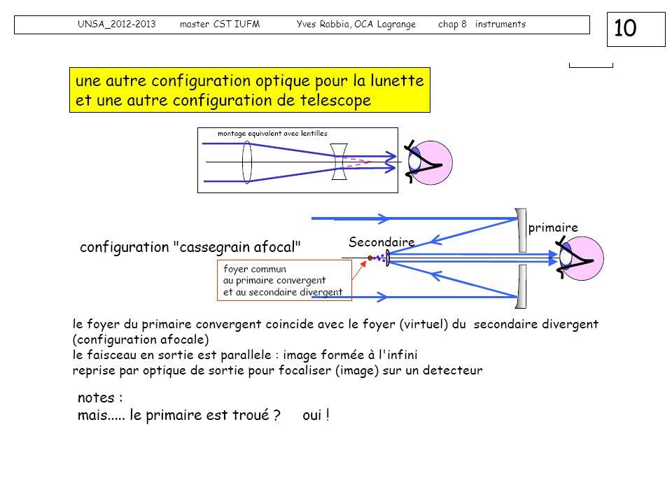10 UNSA_2012-2013 master CST IUFM Yves Rabbia, OCA Lagrange chap 8 instruments