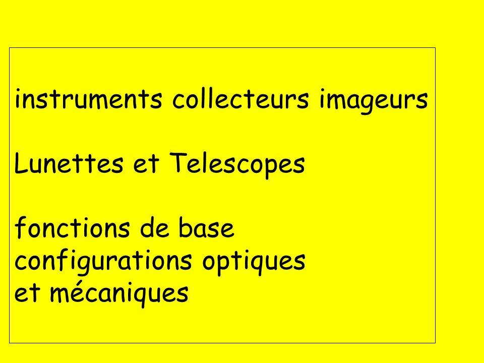 2 UNSA_2012-2013 master CST IUFM Yves Rabbia, OCA Lagrange chap 8 instruments instruments collecteurs imageurs Lunettes et Telescopes fonctions de bas