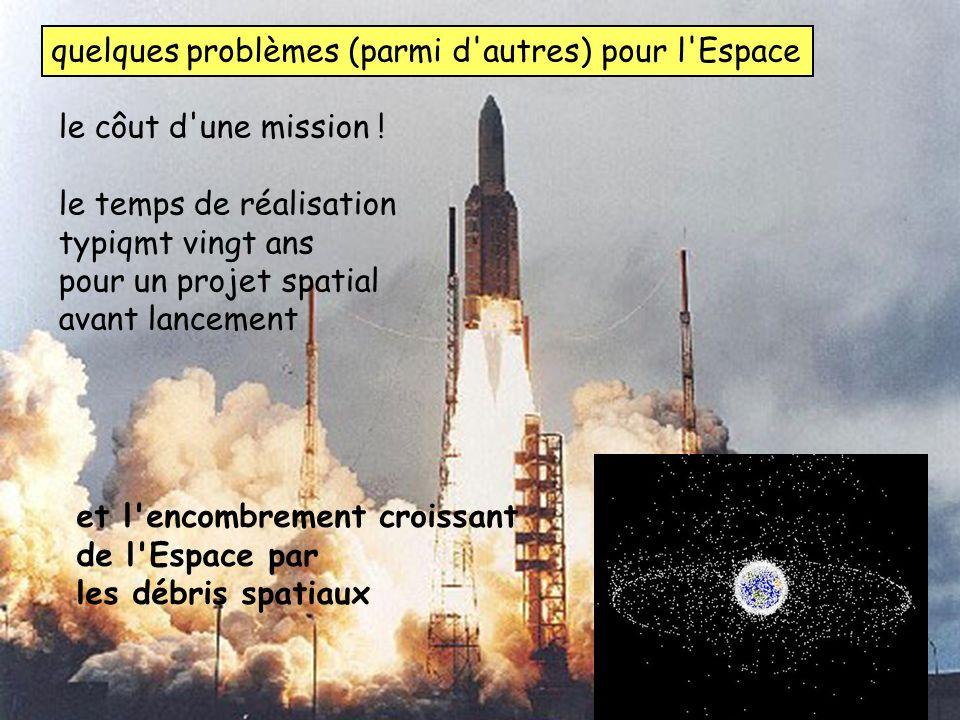 32 UNSA_2012-2013 master CST IUFM Yves Rabbia, OCA Lagrange chap 8 instruments quelques problèmes (parmi d'autres) pour l'Espace le côut d'une mission