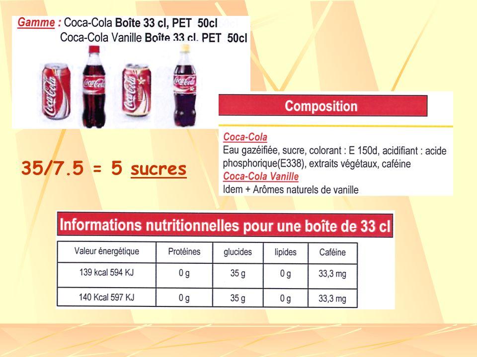 35/7.5 = 5 sucres