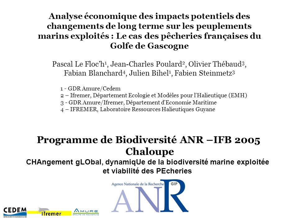 Analyse économique des impacts potentiels des changements de long terme sur les peuplements marins exploités : Le cas des pêcheries françaises du Golf