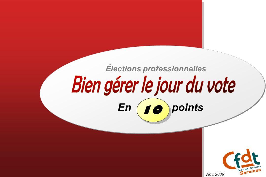 En points Nov. 2008 10 Élections professionnelles