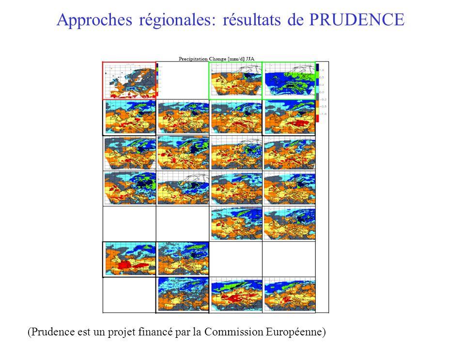 Approches régionales: résultats de PRUDENCE (Prudence est un projet financé par la Commission Européenne)
