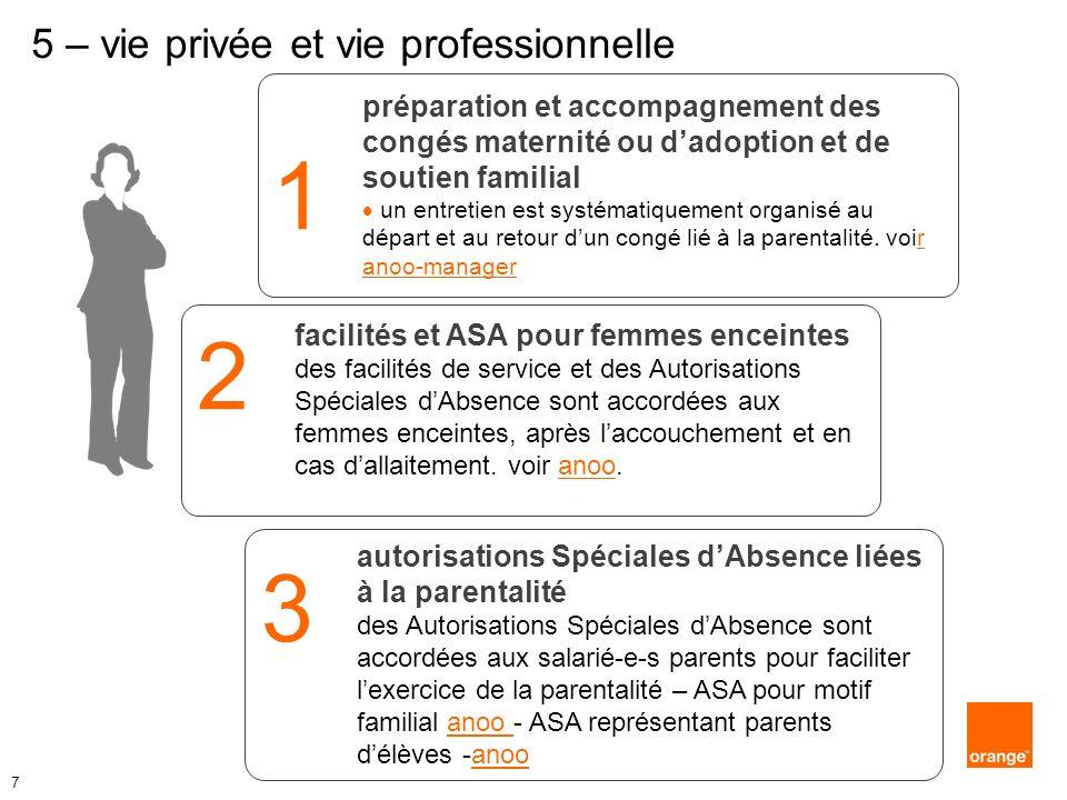 1 préparation et accompagnement des congés maternité ou dadoption et de soutien familial un entretien est systématiquement organisé au départ et au re