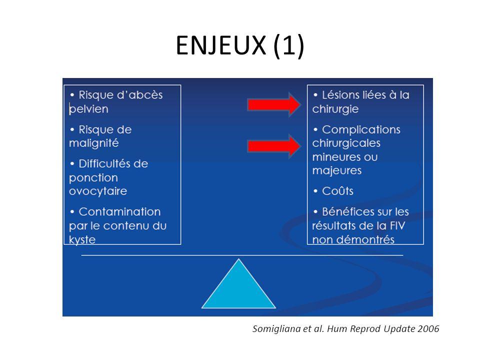 ENJEUX (1) Somigliana et al. Hum Reprod Update 2006