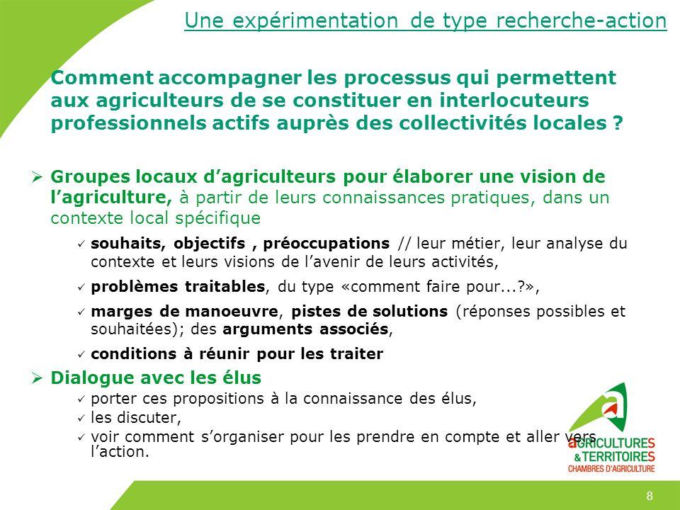 8 Comment accompagner les processus qui permettent aux agriculteurs de se constituer en interlocuteurs professionnels actifs auprès des collectivités
