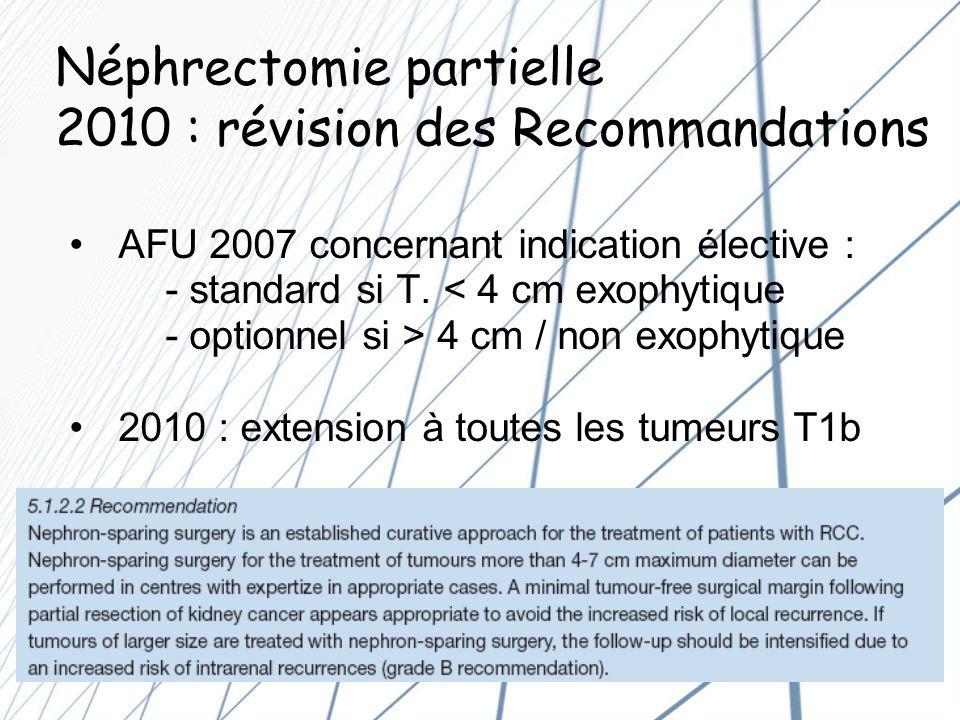 Conclusion (2) Les attentes de lUrologue : Si objectif Néphrectomie Partielle : Dans le K.