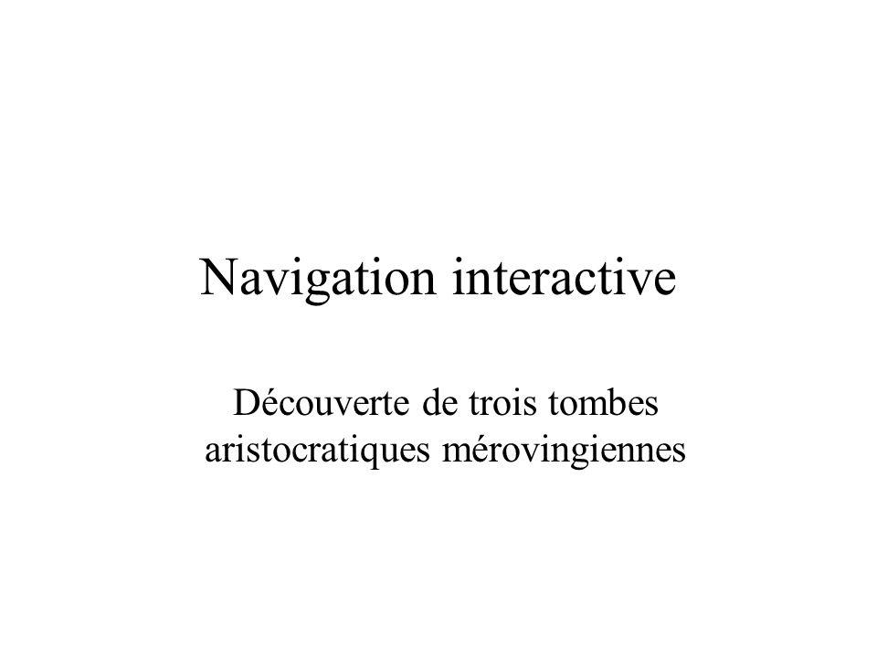 Navigation interactive Découverte de trois tombes aristocratiques mérovingiennes