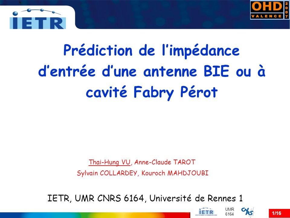 12/16 UMR 6164 Explication… Question .