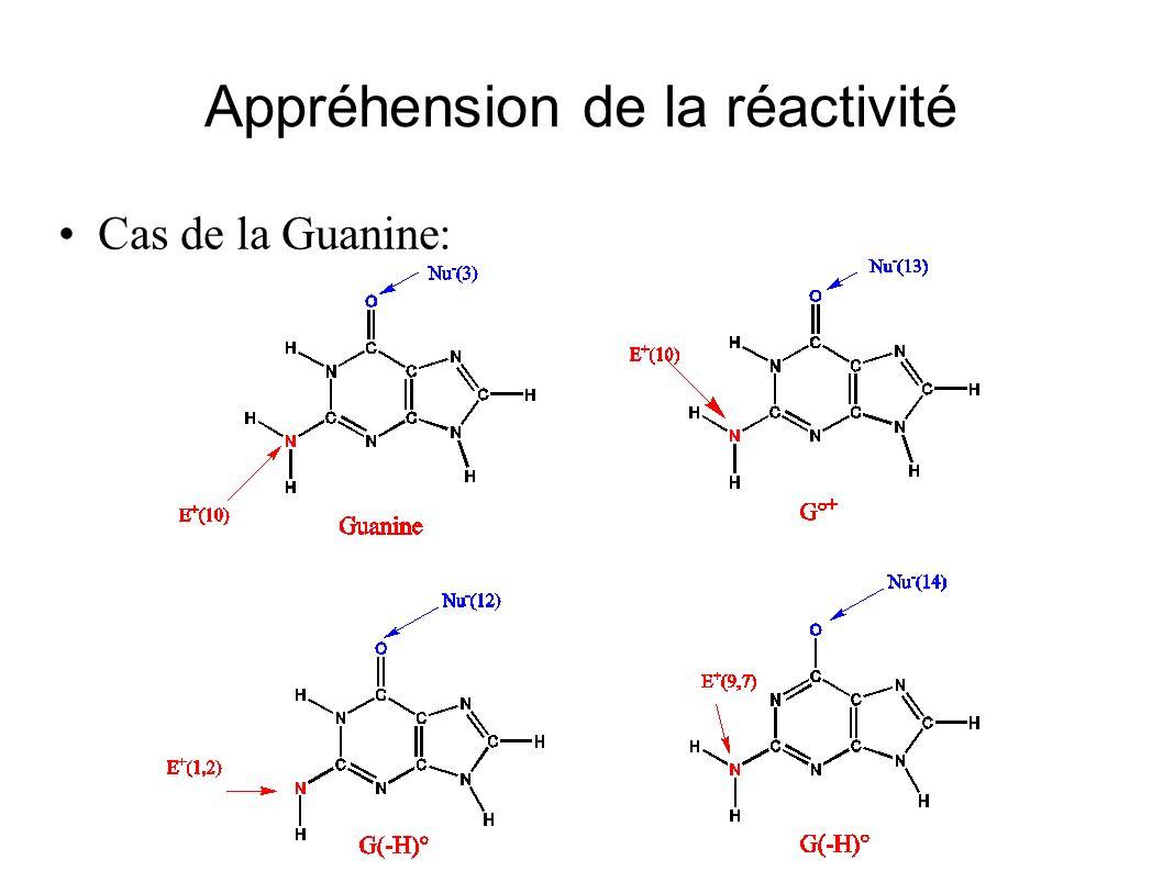 Appréhension de la réactivité Cas de la Guanine: