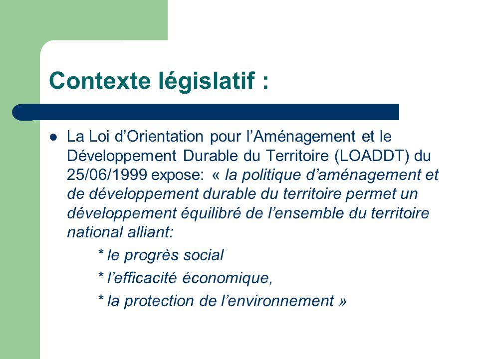 La charte de territoire Le Conseil de développement Les outils de la LOADDT: