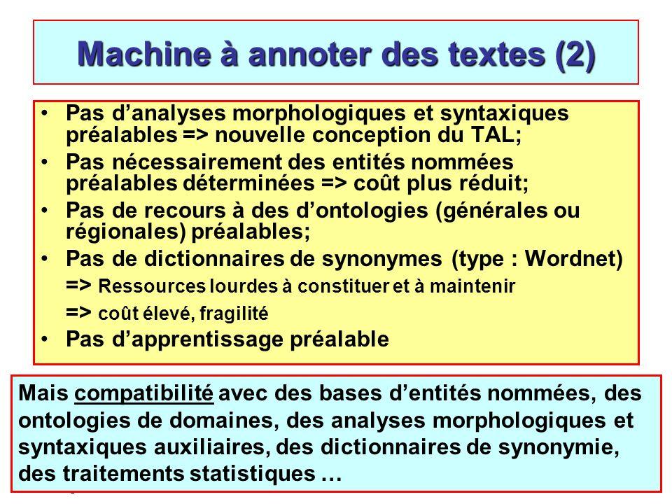 Jean-Pierre Desclés, Catégories discursives, ENS, Lyon, 4 avril 200865 Pas danalyses morphologiques et syntaxiques préalables => nouvelle conception d
