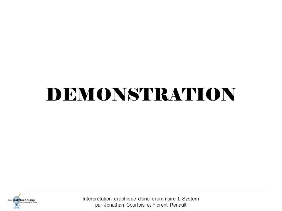 Interprétation graphique d'une grammaire L-System par Jonathan Courtois et Florent Renault DEMONSTRATION