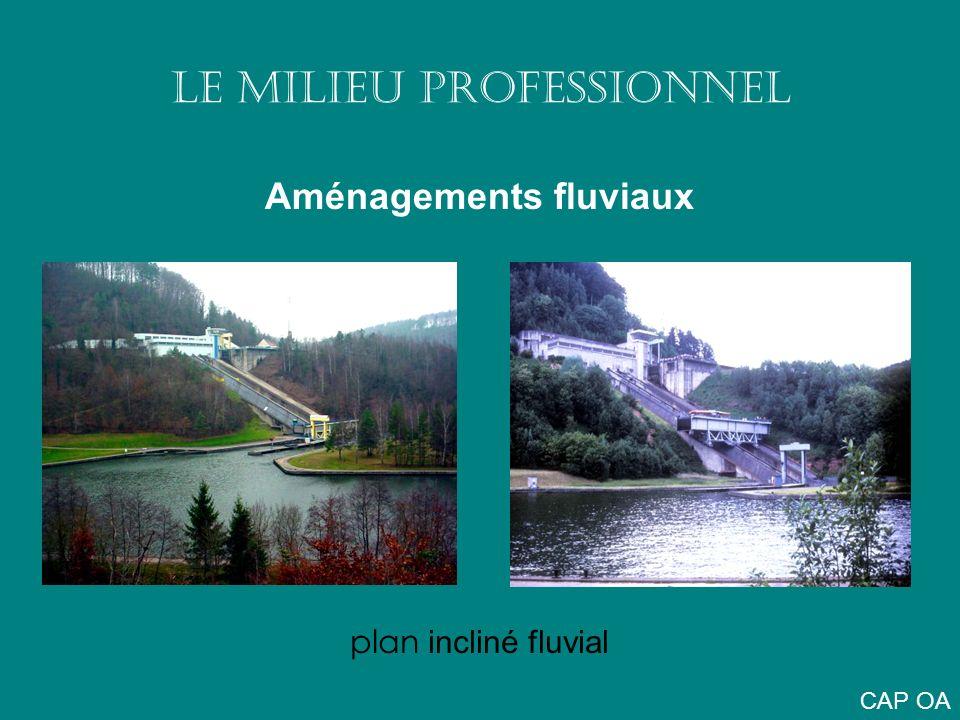LE MILIEU PROFESSIONNEL Aménagements fluviaux plan incliné fluvial CAP OA