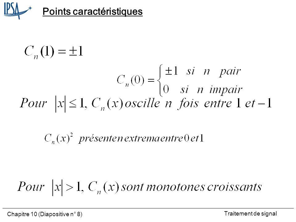 Traitement de signal Chapitre 10 (Diapositive n° 8) Points caractéristiques